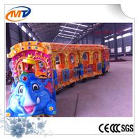 fiberglass trackless diesel road train christmas carnival games electrical train