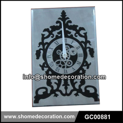 2015 Design Decorative Glass Wall Clock