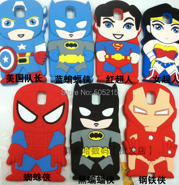 Home gt products gt computers amp av digital gt mobile phone amp accessories - 3d Cartoon Superhero Soft Silicone Rubber Case Cover For