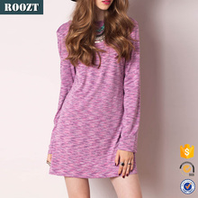 2015 New Fashion Long Sleeve Party Dresses Knit Sexy Backless Dress Women