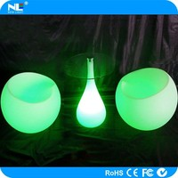 Special shape wholesale LED color change decoration small tables