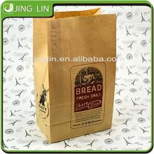 health food custom made greaseproof kraft paper lock bag with window