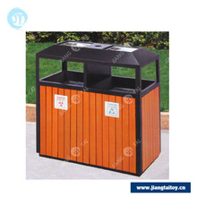 JT-16402B garbage can covers decorative wooden trash cans recycling bin
