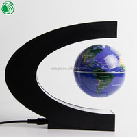 High end gift C shape base 3 inch floating globe lovely beauty gift sets