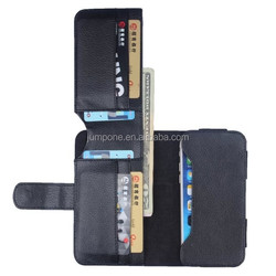 "Universal Pocket Card Holder Photo Slot Wallet Leather Flip Case Cover for 4"" 5"" 5.5"" inch"