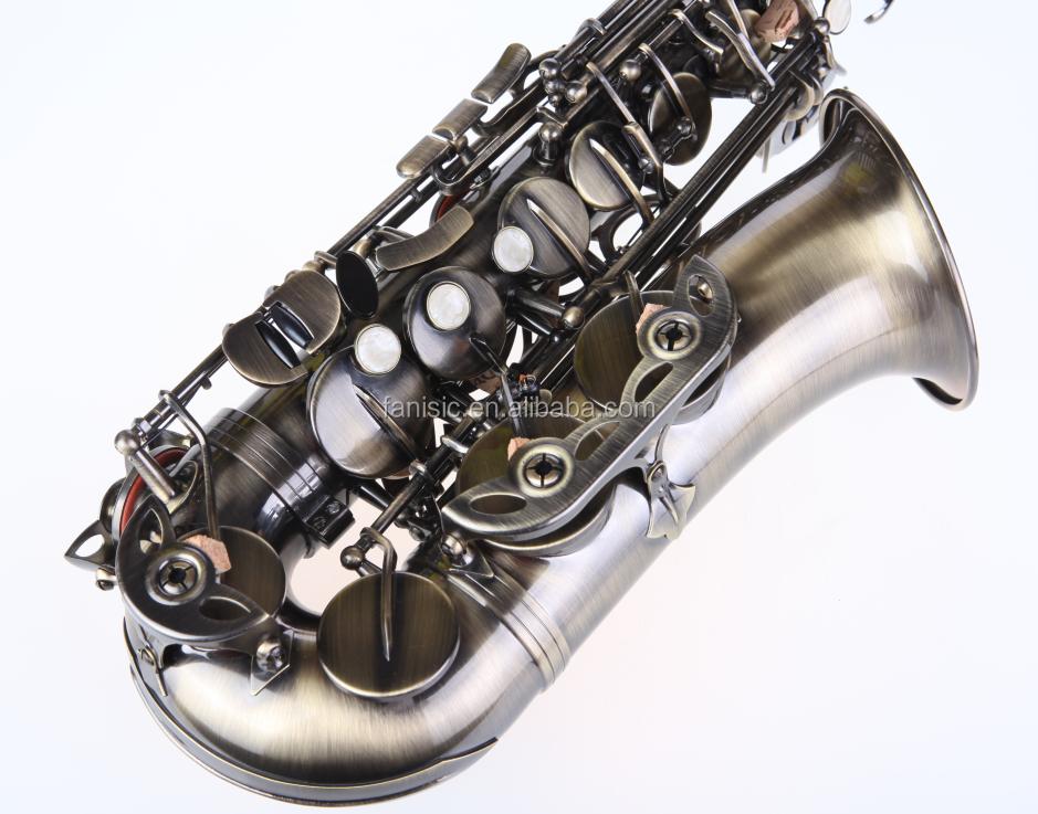 antique gold color alto saxophone