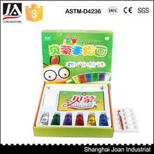 Environmental safe non-toxic washable 6color kids diy finger paint