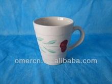 9oz stoneware handpainted zebra mug/cheap zebra mugs