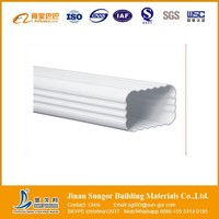 Roofing Material Low Price PVC Square Rain Gutter