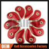 Factory Direct Red Pu Leather Iron Golf Headcovers, More Color Iron Golf Covers
