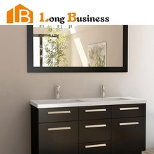 LB-DD2109 Antique style MDF moisture-proof frame lacquer bathroom vanity mirror