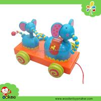 toy pull push toyt, wooden golf shopping push toyt toy