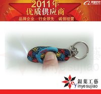 Custom Slipper Rubber Keychain ,Pvc Jandal Key Ring