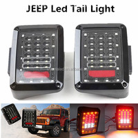Running Turn Brake Reverse light jeep tail light, 12v led tail light JK, jeep wrangler led lights