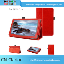Best Quality case for tablet 7 inch Leather Tablet Case for fire 7 2015 case (R64 PU)