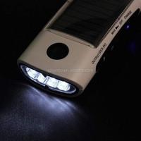 Multifunctional LED Solar Phone External Power Charger + Flashlight + FM Radio