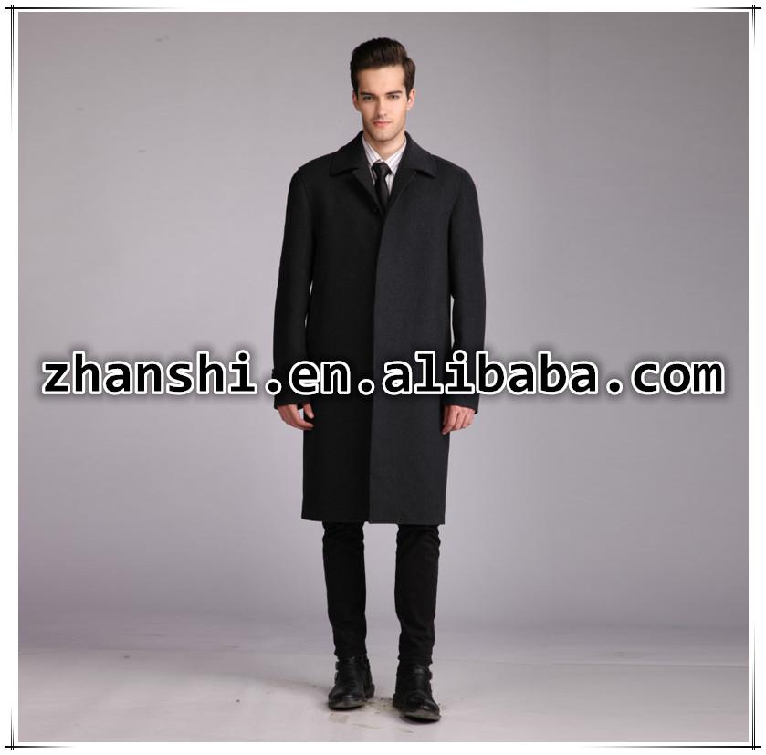 European Style New Fashion Men 39 S Wool Coat Winter Long
