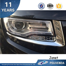 Headlight cover Car Accessories Front lamp cover For Jeep Grand Cherokee 14+