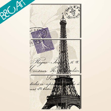 New arrival 100% hand painted paris eiffel tower painting