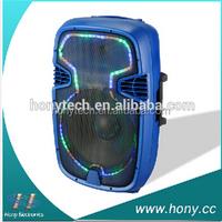 2.0 Professional pa stage speaker/DJ sound box with guitar input/wireless MIC