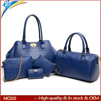 Latest top sell buy 1 send 4 lady fashion 5 pcs set bags Top gread high quality Low moq zip messenger handbag