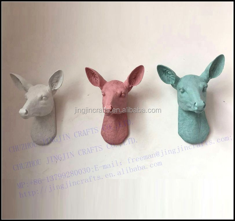 big resin deer head 3 color discription.jpg