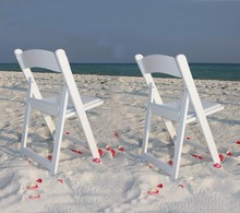 Rental White Foldable Beach Chair