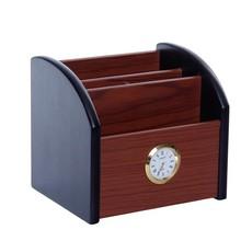 Office Desk Holder Storage Wood Phone Stand Organizer Accessories Home Decor