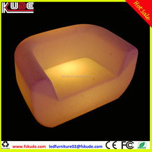 Outdoor Plastic LED Bar Furniture Lounge Bar Light Sofa with remote control