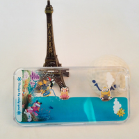 Hot sale lovely PC Liquid phone case For iphone graceful cute Minions
