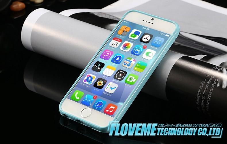 2014 אופנה צבעוני דק סיליקון רך כריכה אחורית מקרה עבור Iphone 6 4.7