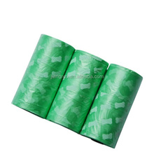Bone shaped printing green oxo-biodegradable dog waste bag