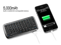 Ultra-thin Wireless Bluetooth Mini Spanish Keyboard for Samsung Galaxy Note with Powerbank in one