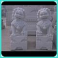 Mármol blanco león chino escultura