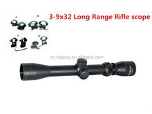 3-9X32 Anti Fog Rifle Optics Black Matte Tactical Rangefinder Reticle Air Hunting Scope