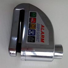 2014 New alarm bike lock, alarm disc lock, motorcycle lock alarm