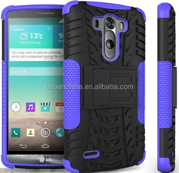High quality kickstand case mobile phone case for LG G3