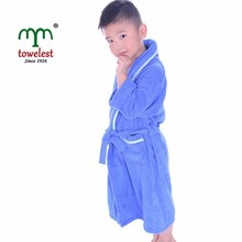 MMY Hot Sale Cotton Terry Boy/Girl Bathrobe Kids Robe with Shawl Collar