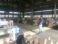 230cm weaving loom machines side-tucking air jet power loom with crank or staubli cam box shedding