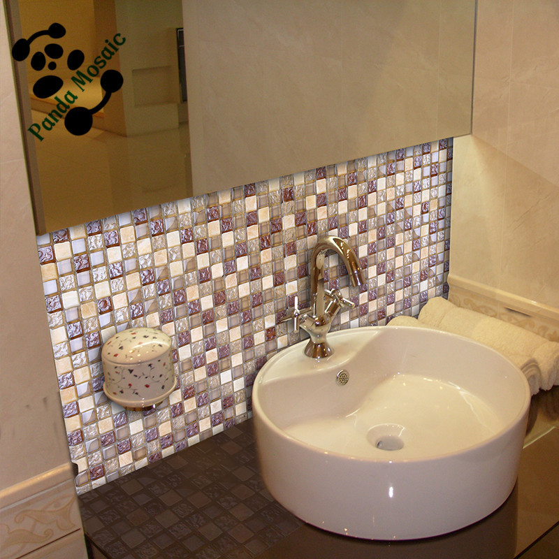 Mb Sms08 Premium Mosaic Bathroom Tile Design Glass Mix Stone Mosaic