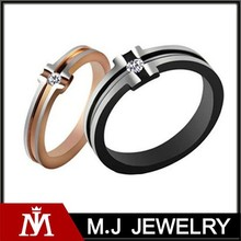 Wholesales Trendy Wedding Jewelry Stainless Steel Diamond Cross Couple Rings for Lover