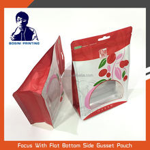 BOSINI / stand up pouch with zipper wolfberry eight side sealing packaging bag and clean window