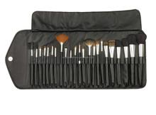 23pcs makeup brush set beauty makeup tools ,cosmetic brushes makeup brush sets,make-up brush set PU leather professinal bag