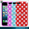 Dot design IMD tech soft silicon case for iphone 5 5s