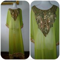 Long Dress Kaftan Islamic Latest Fashion Embroidery Dubai Maxi Kaftan Dresses Long Kaftan , jalabia, hijab dress k978