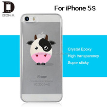 2015 phone case epoxy skin with sticky on glass function