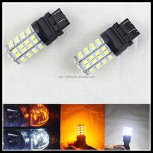 Car Brake Light 60LED SMD3528 T25 3156 3157 195lm Car Auto Stop Turn signal Backup light bulb white amber led bulb