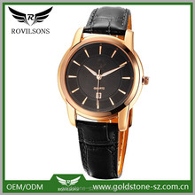 2015 wholesale colorful high quality western style genuine leather band wrist man quartz watches from shenzhen factory