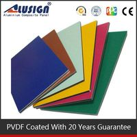 Alusign Aluminum Composite Panel colourful and many sizes can be choosed 13mm pe composite panels