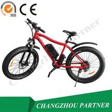 26 pulgadas fat Tire bicicleta eléctrica neumático MTB 48 v 500 w motor